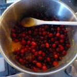 De vulling met cranberries bereiden.