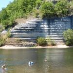 Zwemmen in de  Dordogne
